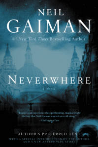 Neverwhere author preferred text cover