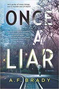Blog Tour & Review: Once a Liar by A.F. Brady